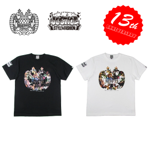 "【DUPPIES】×JUSTICE ""MOH 2FACE"" S/S TEE SHIRTS"