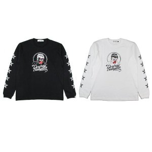 """【DUPPIES】""""JAMES WISE"""" L/S TEE SHIRTS / LAST WHITE M"""