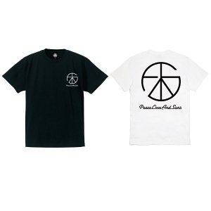 【ANDSUNS】PEACE LOVE SS TEE / LAST WHITE M