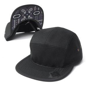 "【DL HEADWEAR】OMEGA 5PANEL CAMP CAP ""PAISLEY VISOR"""