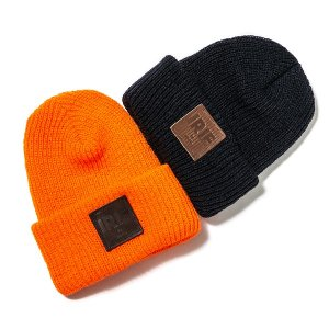 【IRIE by irielife】LEATHER PATCH KNIT CAP