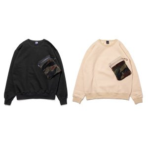 【APPLEBUM】BOA POCKET CREW SWEAT