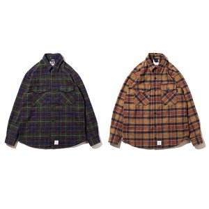 【APPLEBUM】COTTON TWEED CHECK NEL SHIRT<img class='new_mark_img2' src='https://img.shop-pro.jp/img/new/icons5.gif' style='border:none;display:inline;margin:0px;padding:0px;width:auto;' />