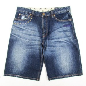 【NINE RULAZ】NRL WASHED DENIM SHORTS / LAST XL