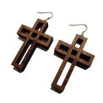 【IRIE BERRY】WOOD CROSS PIEARCED