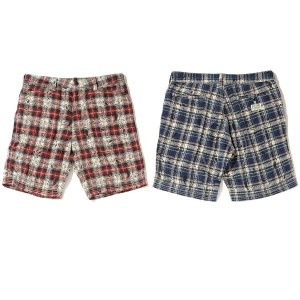 【Back Channel】PAISLEY CHECK SHORTS / LAST RED S