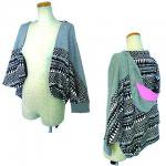 【IRIE BERRY】BIG MOUTH CARDIGAN / LAST GRAY