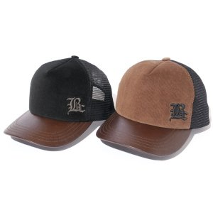 【Back Channel】LEATHER MESH CAP