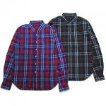 【ANDSUNS】RISE UP SHIRT / LAST PURPLE CHECK L