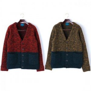【IRIE LIFE】2TONE WOOL KNIT CARDIGAN / LAST YELLOW M