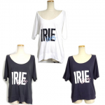【IRIE BERRY】BERRY LOGO DOLMAN TEE / LAST CHARCOAL