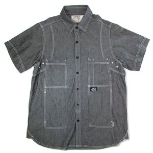 【DUPPIES】CHAMBRAY HUNTING SCYRTE / LAST BLACK L