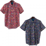【IRIE LIFE】FLOWER S/S SHIRT / LAST RED L