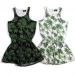 【MURAL】COLORFUL WEED LIFE ROMPERS / LADY'S / LAST WHITE