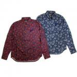 【ANDSUNS】DRIPPED SUNS SHIRT / LAST PURPLE/NAVY M