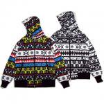 【DUPPIES】NATIVE BORDER ZIP HOODIE