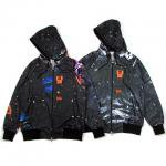 【DUPPIES】GALAXY TIGER STRIPE CAMOUFLAGE ZIP HOODIE / M