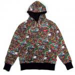 【MURAL】TEN PACES ALL OVER ZIP HOODY / LAST M