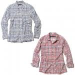 【Back Channel】COTTON CHECK SHIRT  / LAST NAVY L