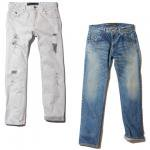 【Back Channel】USED STRAIGHT DENIM / LAST WHITE M