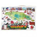【Jamaica Goods】Poster / Map Of Jamaica (A)