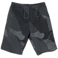 【Back Channel】FELIPE PANTONE FULL PRINT SWEAT SHORTS(REFLECTOR PRINT) / LAST BLACK M