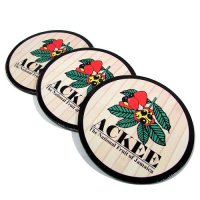 【Jamaica Goods】Jamaica Coaster 2Peace Set(Ackee/Round)