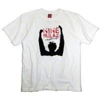 【NINE RULAZ】CHAMPION TEE / LAST WHITE M