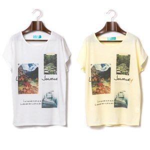 【IRIE BERRY】LIFE IS JURNEY TEE / LAST YELLOW
