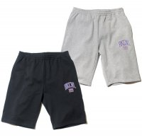 【Back Channel】COLLEGE LOGO SWEAT SHORTS / BLACK M