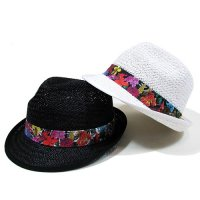 【MURAL】BORDER ALOHA STRAW HAT