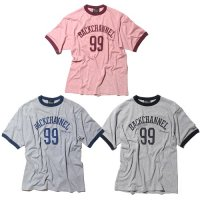 【Back Channel】COLLEGE LOGO TRIM T / LAST RED XL