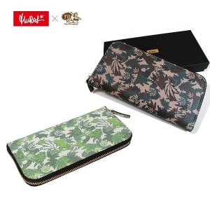 【MURAL】× FITNESS BS CAMO LEATHER WALLET-A- / LAST BEIGE