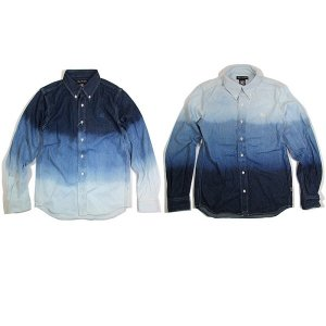 【ANDSUNS】DRAGON DENIM SHIRT (LAST WHITE/INDIGO M)