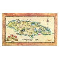 【Jamaica Goods】Poster / Map Of Jamaica (B)