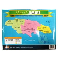 【Jamaica Goods】Poster / Map Of Jamaica (C)