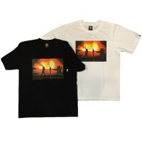 【ANDSUNS】FIRE PROOF TEE / LAST WHITE M