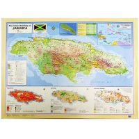 【Jamaica Goods】Poster / Map Of Jamaica (D)