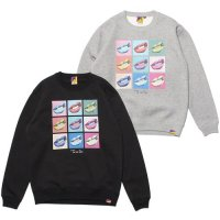 【Tome2H】BAD GYAL LIPS POP ART CREW SWEAT / LAST GRAY S