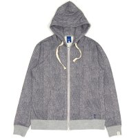【IRIE LIFE】KNIT PRINT ZIP UP HOODIE / LAST GRAY M