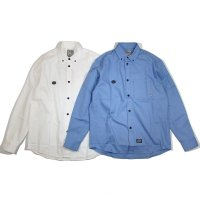 "【DUPPIES】BUTTON DOWN SHIRTS ""OX FORD"" / LAST BLUE L"