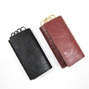 【DUPPIES】LEATHER KEY CASE  / LAST BROWN
