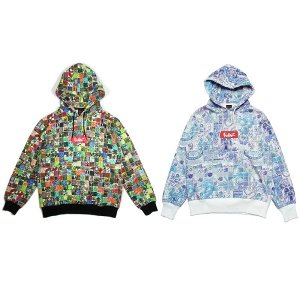 【MURAL】TILES BOX HOODY / LAST MULTI L