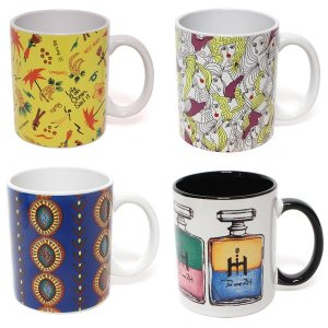 MUG CUP(CARIBBEAN/FRENCH GIRLS/AFRICAN/AURA-SOMA)