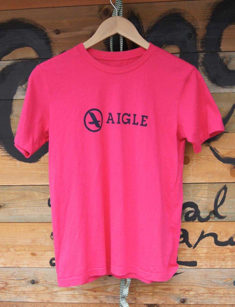 <AIGLE エーグル> オーガニックコットンロゴTシャツ