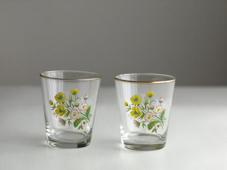 草花のグラス