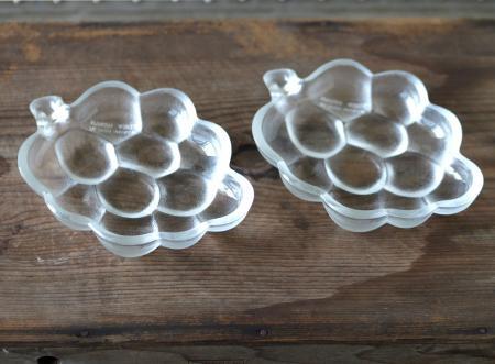 葡萄のガラス小皿