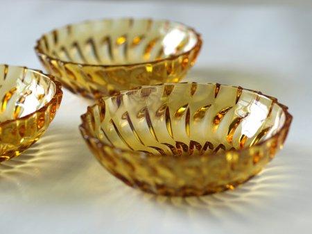 アンバーガラス小皿