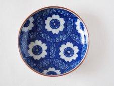 古い印判豆皿(花)