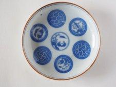 古い印判小皿(円図)